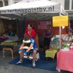 onze stand op de meimarkt in Zutphen